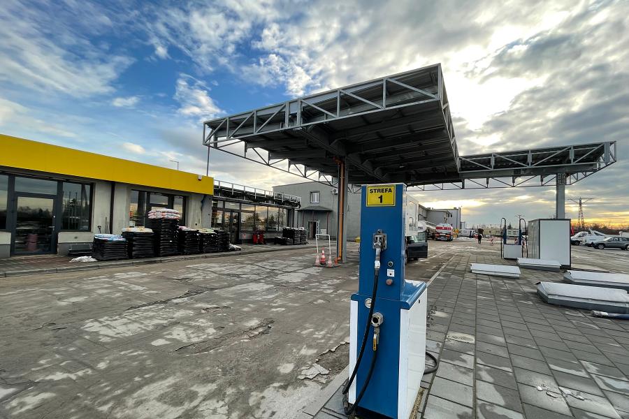 Stacja paliw Zaręba, wiata